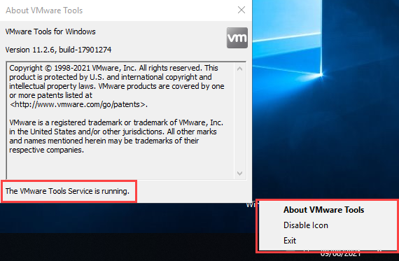 VMware Tools About
