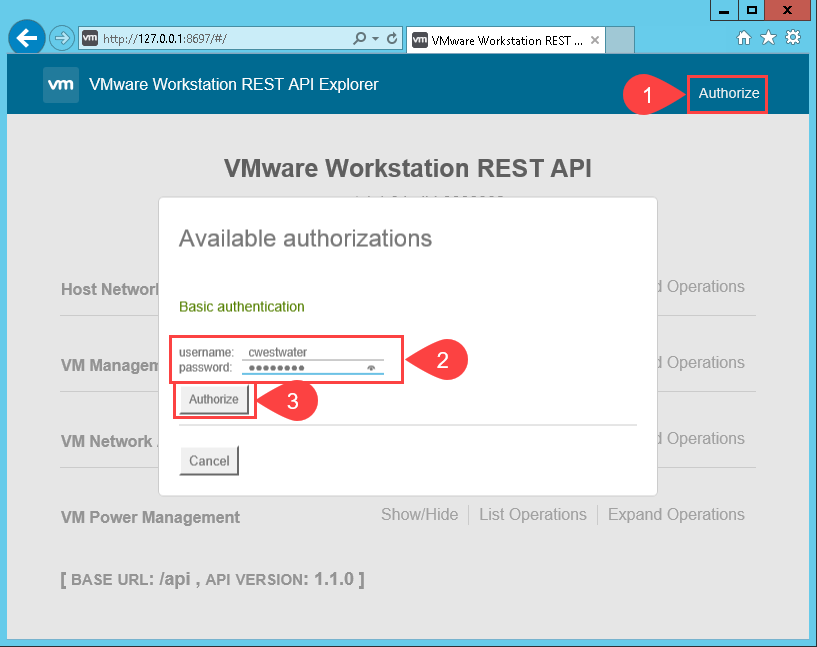 VMware Workstation Tech Preview 2018 REST API - vGemba