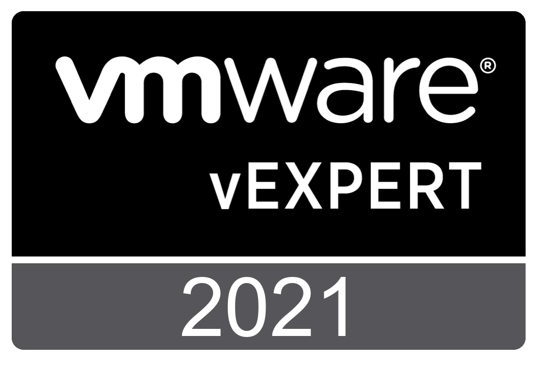vExpert 2021 Badge